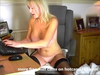 My friend's mom plays give hot pussy for me
