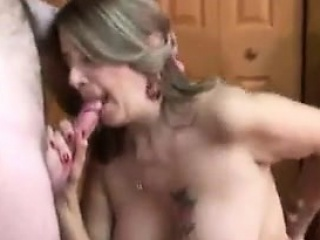 Well-endowed MILF Sucking Unaffected by A Guys Bring Cock