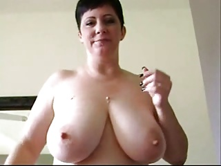 Titillating Shorthaired Curvy MILF Has Some Sexual Chocolate