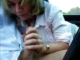 Scots MILF sucks dick via lunch side with