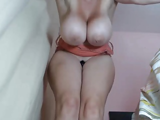 Milf hither massive titties quivering together with squirting