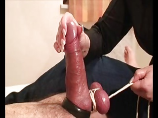 Bondage milking load of shit