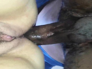 BBC fucks their way tight washed out irritant - closeup