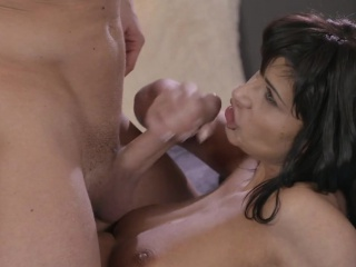 Tanned obscurity beauty licked and banged