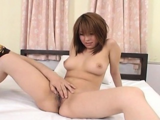 Arisa Minami is distressed in excess of titties and nailed