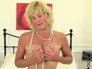 British milf Tori plays on touching their way coitus trifle