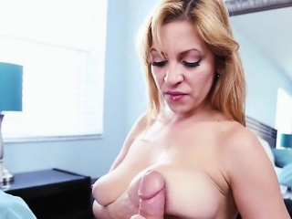 Blondie Jazmyn Kneels Upon For A Big Cock