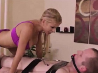 Dominatrix does honcho massage