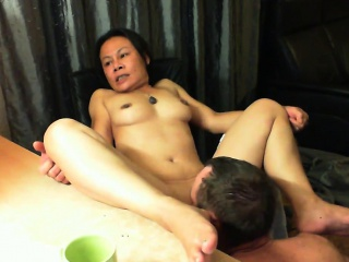 Lovable Asian wife with nice boobs has their way defy weathering out