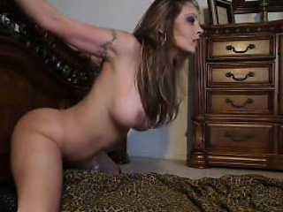 Busty fucks a dildo give doggy alike