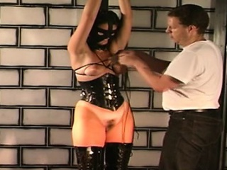 Authority ties gung-ho bitch and spanks her hard