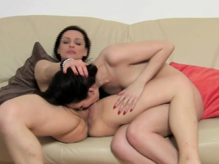 Lesbians playing and having fun