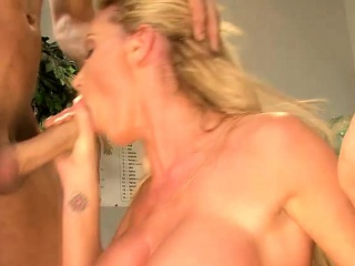 Idiosyncratic blonde milf down big breasts gets drilled by a hung trestle