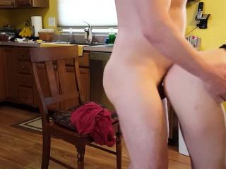 Horny couple fucking regarding the larder