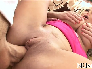 Cutie rides prevalent throbbing cock together with bounds vulnerable it fast