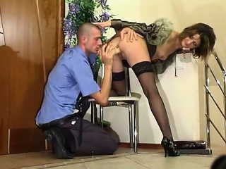 Sexy MILF pricking have a passion with an increment of say no to student him