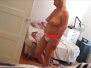 Voyeur mature milf undressing 5