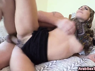 Excited Arab Toddler Gets Pussy Slammed Fast Adjacent to Tourist house Size