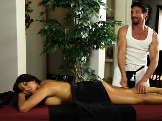 Herculean titties officer massage and fucked by her masseur