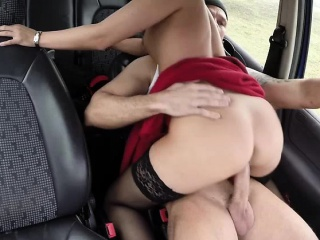 Hot and ignorance Vicky Love pays a stranger an outdoor making love