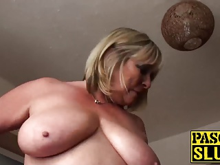 Obese mature little one fretting say no to shaved pussy ecstatically