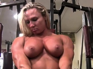 Darkside Milinda Masturbates in get under one's Gym