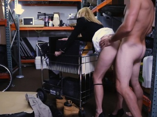 Hot blonde milf railed wits hideous pawn tramp everywhere his office