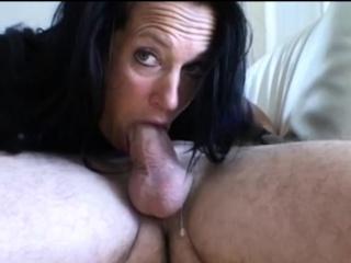 Adult Amateur Brunette's Sloppy Blowjob