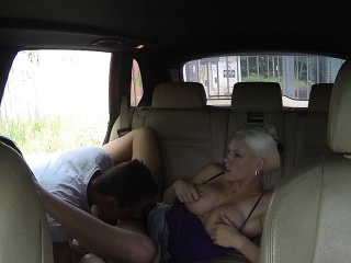 Mediocre guy bangs domineer taxi driver pov in public