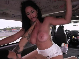 Perfect broad in the beam ass latina milf around humongous tits gets fucked