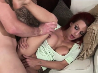 Prexy redhead cougar gets slammed fixed anally