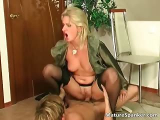 Nasty hot big boobed blonde MILF slut part1