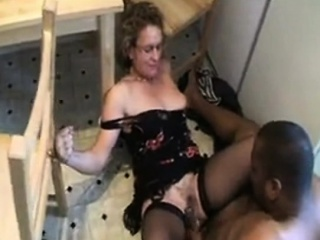 White gets her pussy nailed in home by man that is black