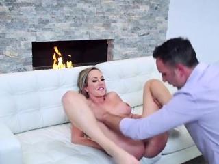Crestfallen Copyist Brett Rossi Gets Her Cunt Ruined By Boss