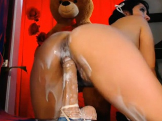 Mexican Milf had a sloppy Sextoy Creampie