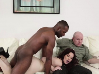 Redhead milf fucked nearby front be required of spouse by bbc