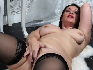 British obese breasted MILF fooling forth