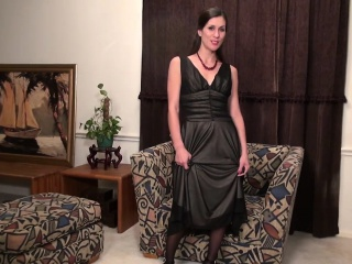 Infinitesimal grown up lady undressing with an increment of masturbating