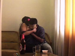 Hot Indian Couple X-rated Kissing With an increment of Making out