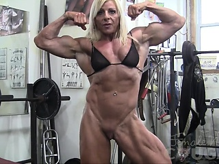 Female Bodybuilder Lacey Mill Out Coupled with Masturbates