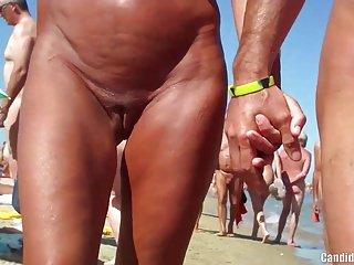 Sexy Nudist Milfs SpyCam Lounge Beach Voyeur HD Video
