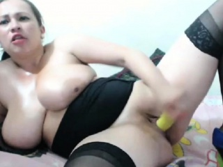 Chubby tits MILF deepthroat on cam