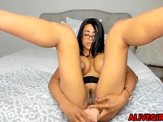 Hot aHorny Pitch-black StepMOM about monster tits