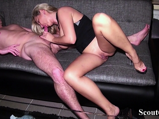 German Husband forbidden Wife with Salad days with an increment of Join Fuck