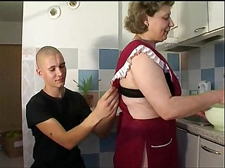 Mature Old unreserved with young boy