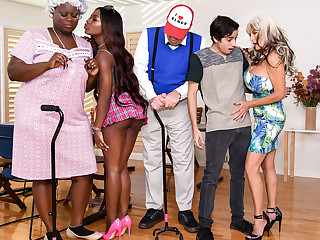 Noemie Bilas & Sally D'Angelo & Ricky Spanish in Bingo Burgeon - BRAZZERS