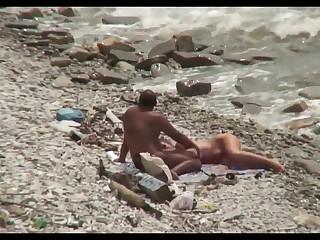 Cuckold gal in the lead beach