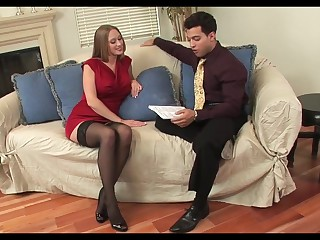 Hot cougar encircling stockings likes it junior and indestructible