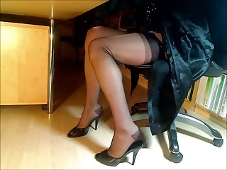 Compilation be beneficial to feet-legs-nylons with an increment of heels