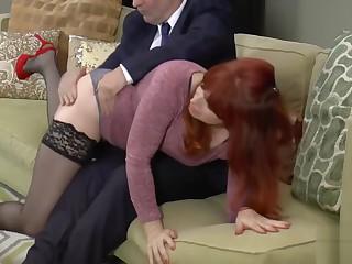 Amber's tearful castigation spanking